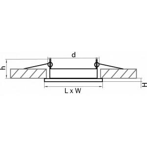 Схема Встраиваемый светильник 212120 в стиле техно
