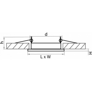 Схема Встраиваемый светильник 212121 в стиле техно