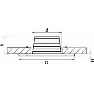 Схема Встраиваемый светильник 212175 в стиле техно