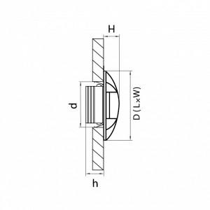 Схема Накладной светильник 212263 в стиле техно
