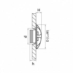 Схема Накладной светильник 212373 в стиле техно