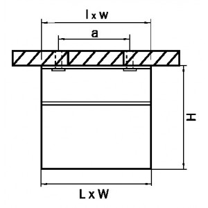 Схема Накладной светильник 214437 в стиле техно