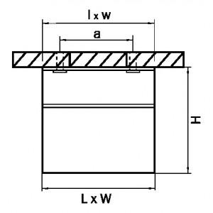 Схема Накладной светильник 214438 в стиле техно