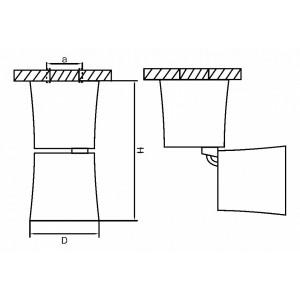 Схема Накладной светильник 214458 в стиле техно