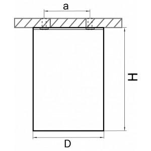 Схема Накладной светильник 214487 в стиле техно