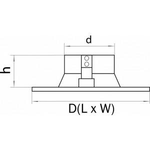 Схема Рамка на 1 светильник 214617 в стиле техно