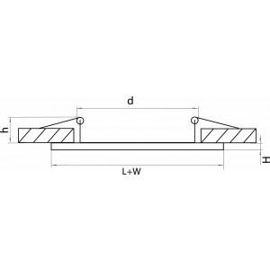 Схема Рамка на 2 светильника 214626 в стиле техно