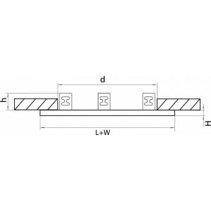 Схема Рамка на 3 светильника 214637 в стиле техно