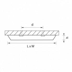 Схема Накладной светильник 216872 в стиле техно
