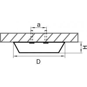 Схема Накладной светильник 216902 в стиле техно