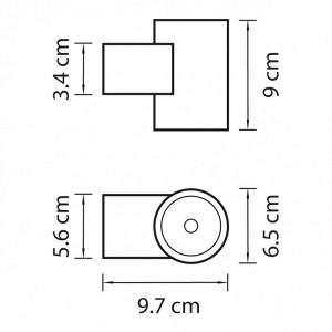 Схема Светильник на штанге 351672 в стиле техно