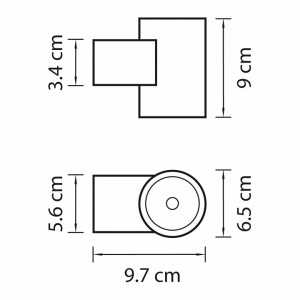 Схема Светильник на штанге 351694 в стиле техно