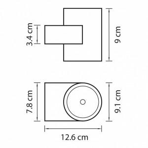 Схема Светильник на штанге 361672 в стиле техно