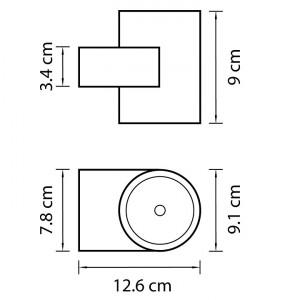 Схема Накладной светильник 361674 в стиле техно