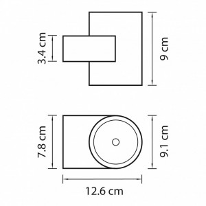 Схема Светильник на штанге 361692 в стиле техно