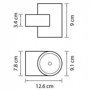 Схема Накладной светильник 361694 в стиле техно