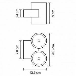 Схема Накладной светильник 362674 в стиле техно