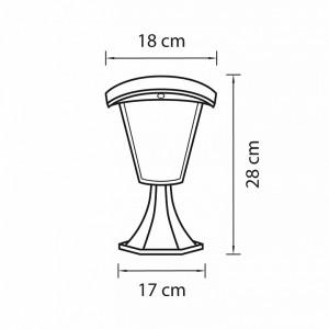 Схема Наземный низкий светильник 375970 в стиле модерн