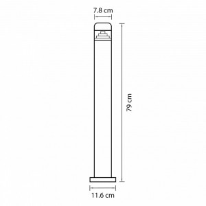 Схема Наземный низкий светильник 376705 в стиле техно