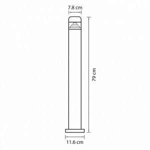 Схема Наземный низкий светильник 376707 в стиле техно