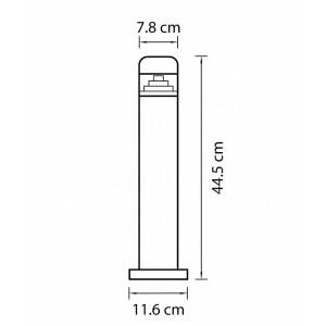 Схема Наземный низкий светильник 376905 в стиле техно