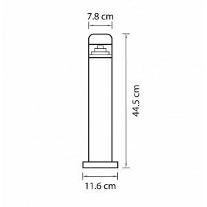 Схема Наземный низкий светильник 376907 в стиле техно