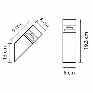 Схема Светильник на штанге 377605 в стиле техно