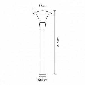 Схема Наземный низкий светильник 378737 в стиле модерн