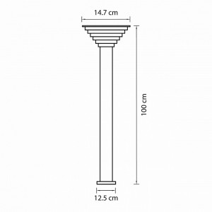 Наземный высокий светильник 379747 Lightstar