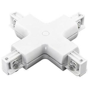 Соединитель с токопроводом X-образный для треков 504146 Lightstar