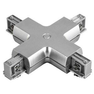 Соединитель с токопроводом X-образный для треков 504149 Lightstar