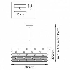 Схема Светильник на штанге 746068 в стиле модерн