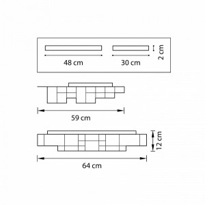 Схема Накладной светильник 750161 в стиле техно