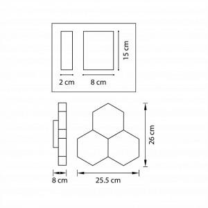 Схема Накладной светильник 750631 в стиле техно