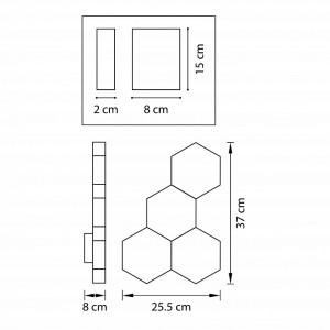 Схема Накладной светильник 750642 в стиле техно