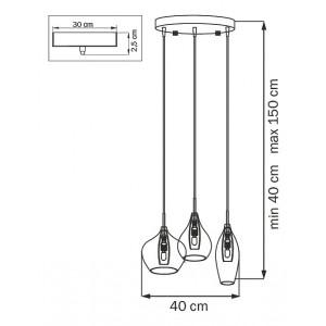 Схема Подвесной светильник 803058 в стиле модерн