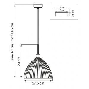 Схема Подвесной светильник 810030 в стиле модерн