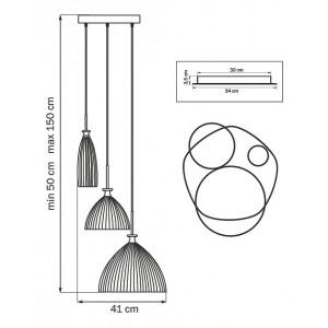 Схема Подвесной светильник 810130 в стиле модерн