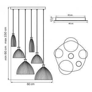 Схема Подвесной светильник 810161 в стиле модерн