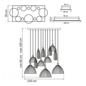 Схема Подвесной светильник 810223 в стиле модерн