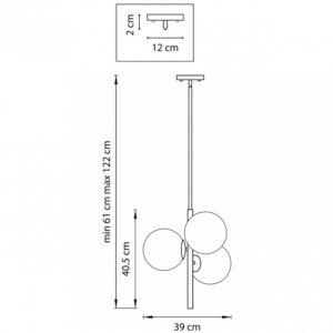 Схема Люстра на штанге 815031 в стиле модерн