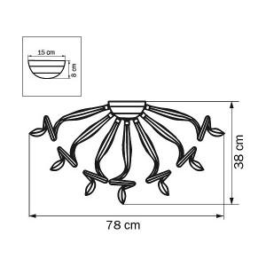 Схема Потолочная люстра 890090 в стиле модерн