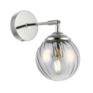 SLE102201-01 Светильник настенный Хром/Дымчатый E14 1*40W