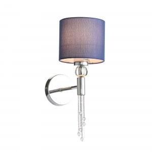 SLE105181-01 Светильник настенный Хром/Синий E27 1*60W