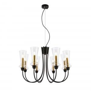 SLE112403-08 Светильник подвесной Черный/Прозрачный E14 8*40W