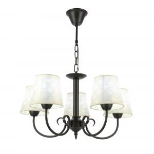 SLE120303-05 Светильник подвесной Черный/Бежевый E14 5*40W