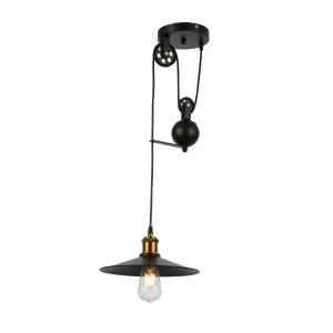 SLE120503-01 Светильник подвесной Черный/Черный E27 1*40W