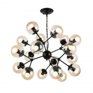 SLE154913-16 Светильник подвесной Черный/Янтарный E27 18*40W