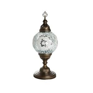 0915,01 Настольная лампа МАРОККО белый h-39. d-15 Е14 1*40w