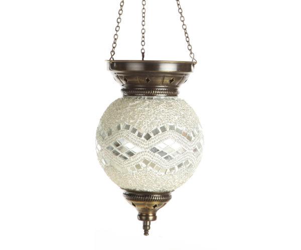 0115,01 Подвесной светильник МАРОККО белый h-60. d-15 E14 1*40w
